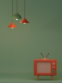 デザインインテリアのためのレトロな家具と装飾