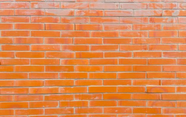 건축에 대 한 레트로 그런 지 주황색 벽돌 벽 배경