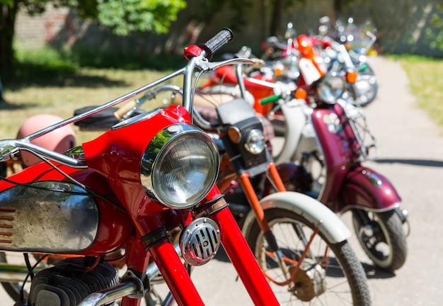 レトロなオートバイ