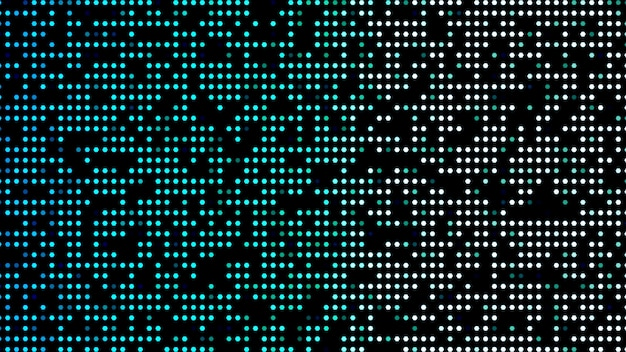 Retro neon blue background pattern of neon particles