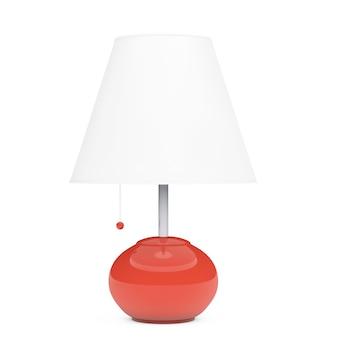Ретро ночник настольная лампа на белом фоне. 3d рендеринг