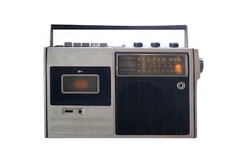レトロ時代遅れのポータブルステレオブームボックスラジオカセットレコーダー80年代から
