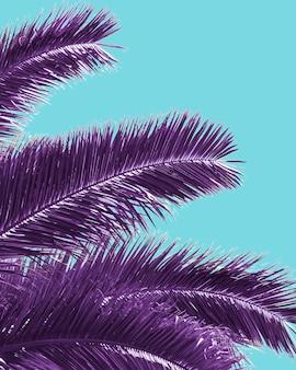 Retro palm tree in vaporwave style