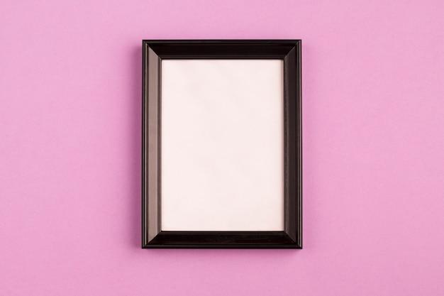 Retro photo frame with black edges