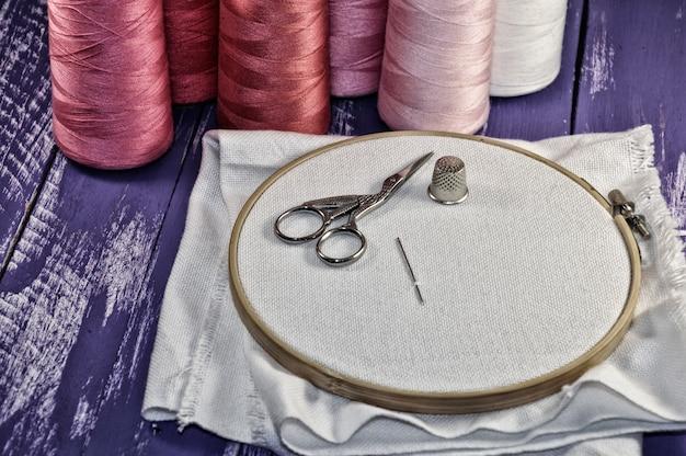 Retro photo sewing accessories