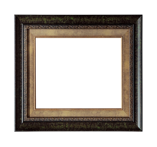 Retro picture photo frame isolated on white
