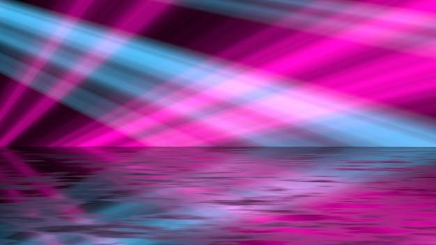 レトロなピンクとブルーの明るい背景