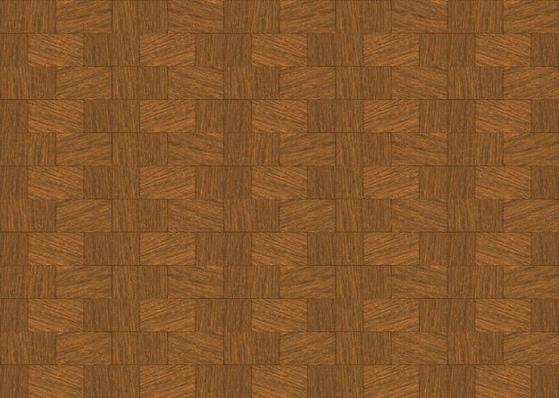 Retro seamless brown hardwood brick block shape pattern design wall background.