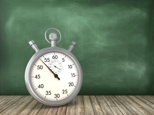 Retro stopwatch on chalkboard