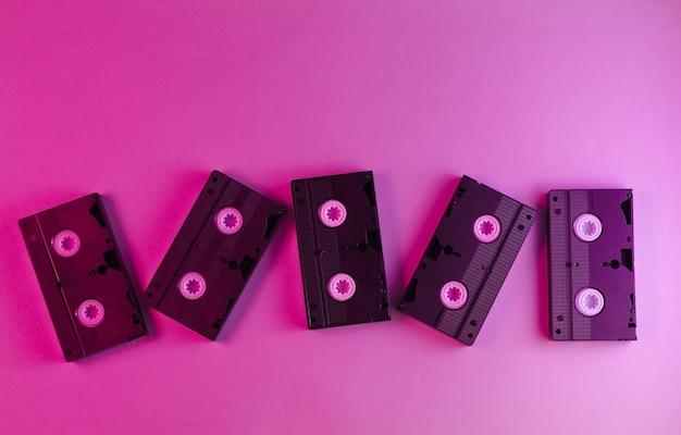 복고풍 스타일, 80 년대. 비디오 카세트