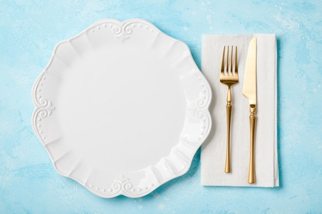 Retro style holiday table setting