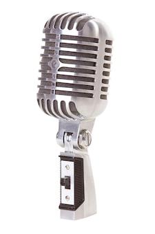 Ретро стиле микрофон, изолированные на белом фоне