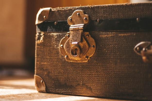 Retro suitcase retro background