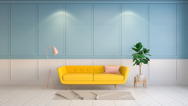 Retro and summer interior  living room style