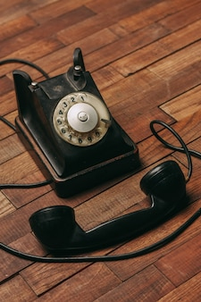 Retro telephone technology communication classic style antique