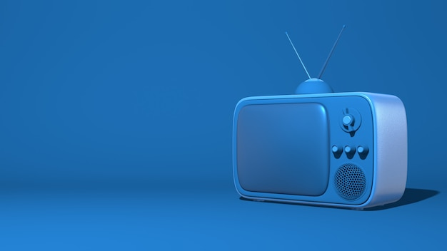 レトロなテレビアンテナイラスト漫画スタイルのおもちゃ3 dレンダリング