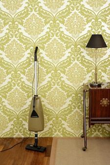 Retro vacuum cleaner vintage sixties wall
