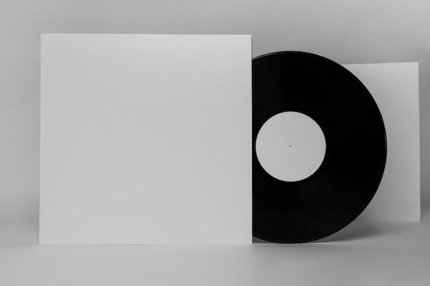 Концепция ретро виниловых дисков с копией пространства