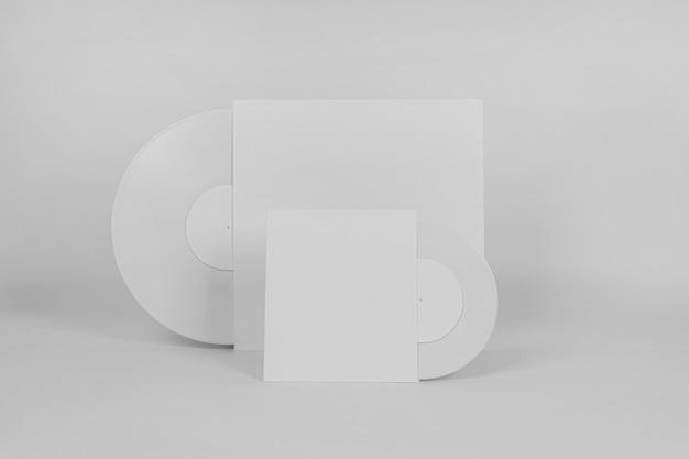Retro vinyl disc concept with copy space