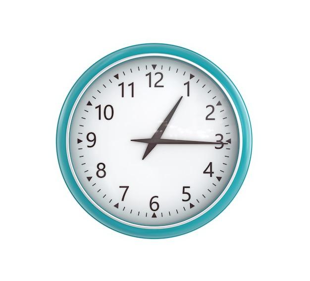 흰색 배경에 고립 된 레트로 벽 시계