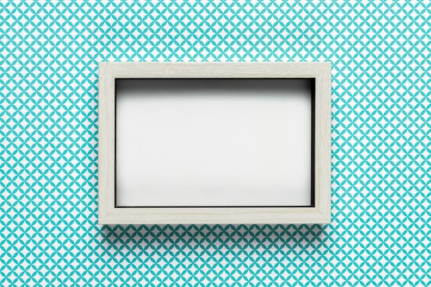 Retro white frame with pattern background