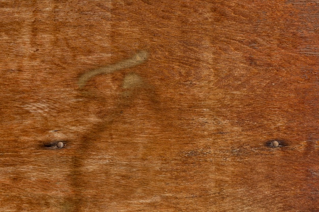 Retro wood surface with rusted nails