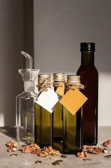 Reusable dark glass bottle. eco friendly packaging is reusable