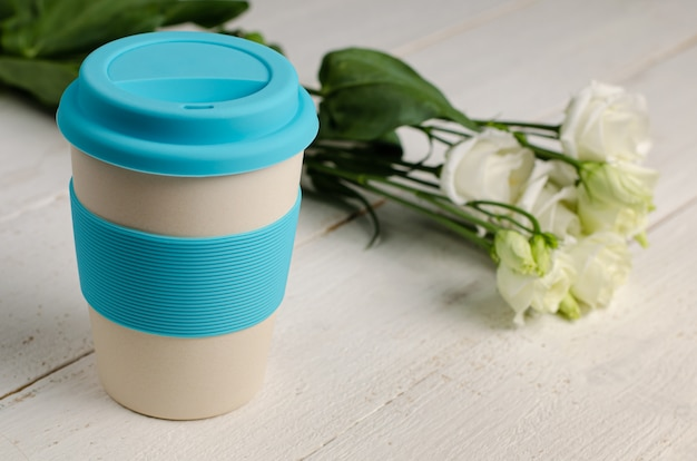 Reusable eco friendly bamboo cup