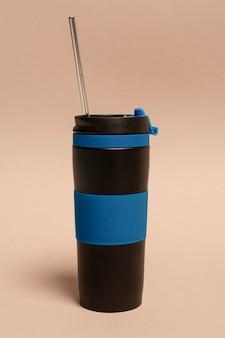 ストロー付きの再利用可能な魔法瓶