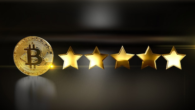 Review rate 5 star  social media style 4k. illustration.