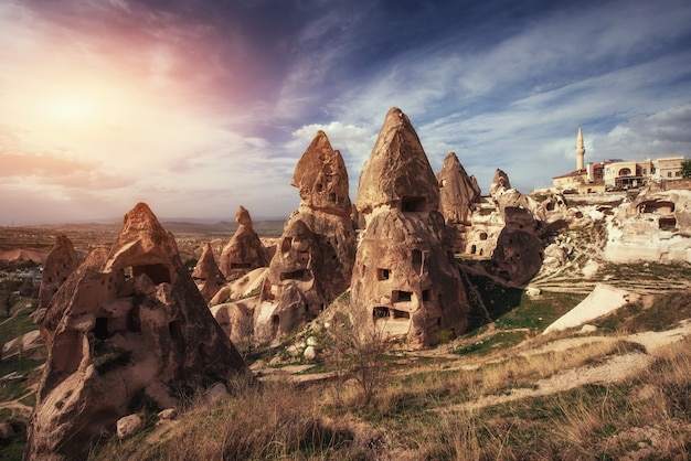 Review unique geological formations in cappadocia, turkey. kappa