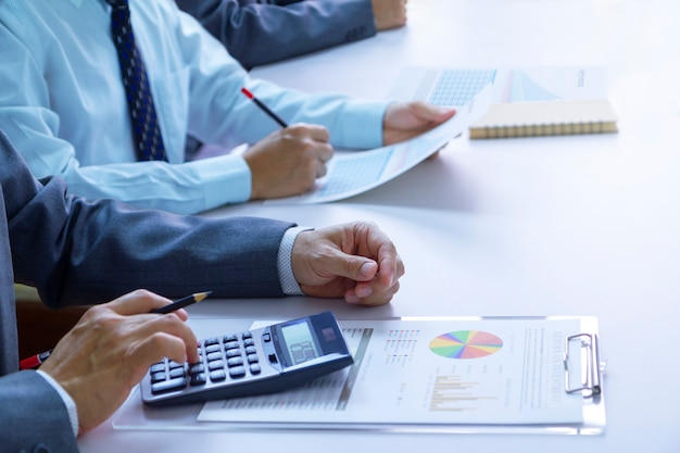 Reviewing a financial reports in returning on investment analysis