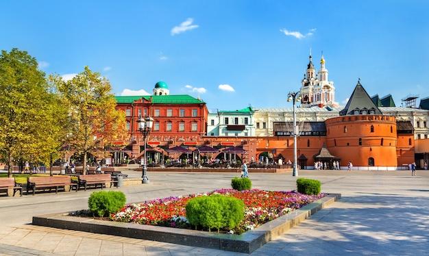 러시아 수도 모스크바의 혁명 광장