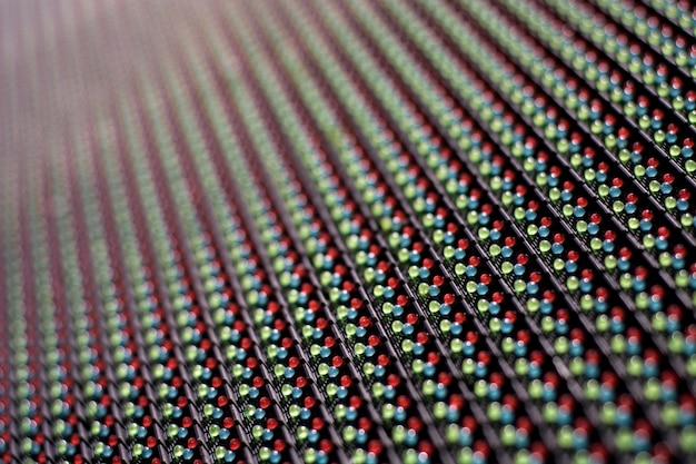明るい色のrgb ledのsmd画面のディスプレイテクスチャ