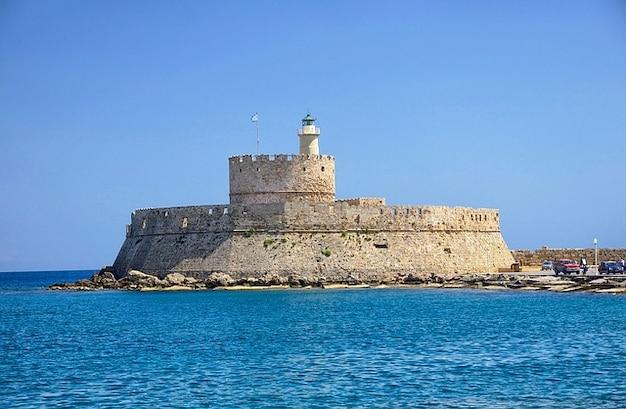 Rhodes fort fortress castle saint nicolas greece