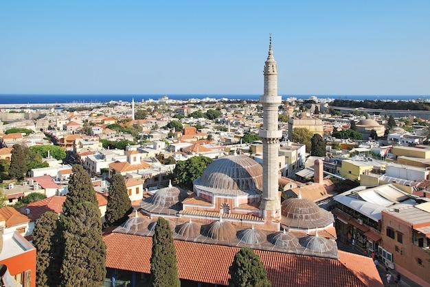 Rhodes landmark suleiman mosque. greece. old town