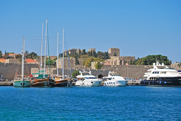 Rhodes. panorama of old town