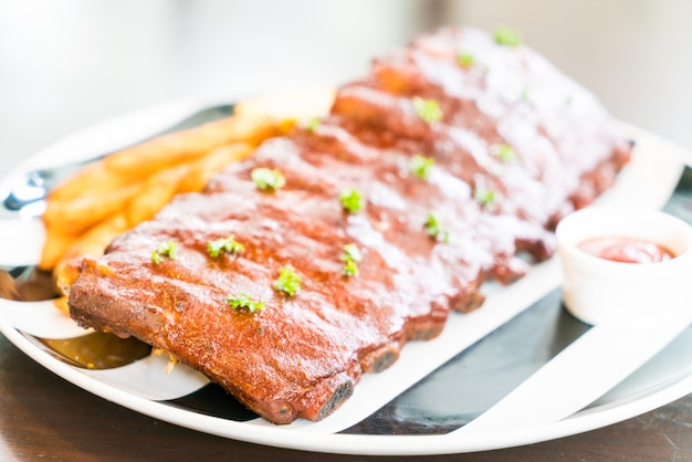 Rib ribs meal cooking background
