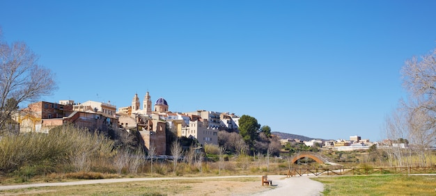 Ribarroja in valencia parc de turia skyline