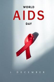 Ribbon as symbol of aids awareness
