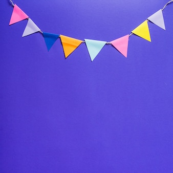 Ribbon with party flags