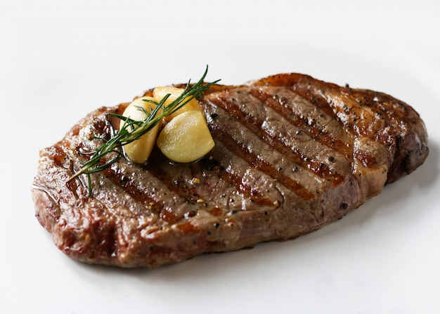 Ribeye sirloin steak, black angus beef steak , grilled meat