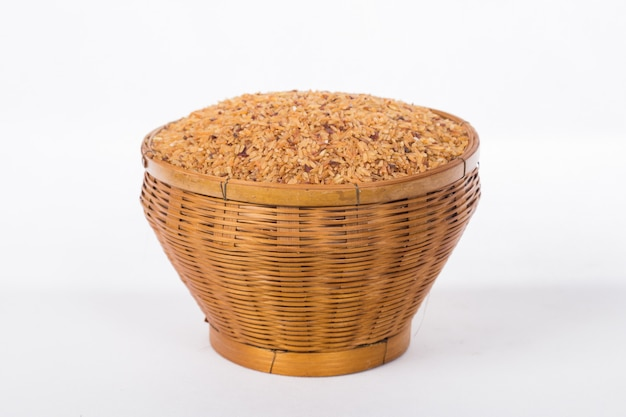 Rice in the basket