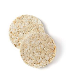 白い背景で隔離の米パン