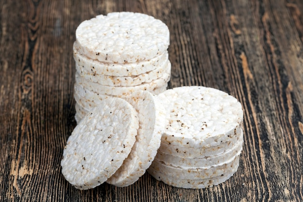 Rice breads made from rice cereals