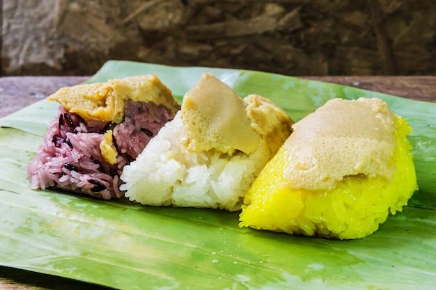 Rice custard, dessert thailand