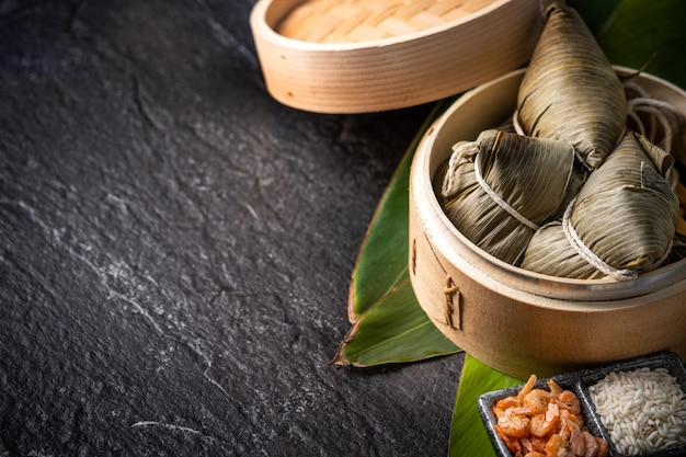 Rice dumpling for dragon boat festival (duanwu festival)