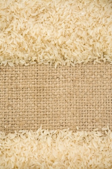 Rice grain and sack surface texture