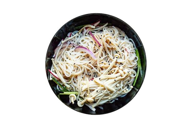 Рисовая лапша еноки грибы овощи целлофан паста мисо рамэн суп фунчоза фо морепродукты