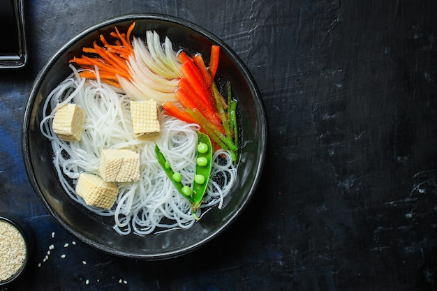 Rice noodles pho soup glass noodle asian vermicelli